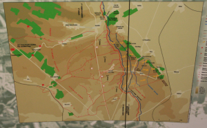 Map of Vimy battle lines