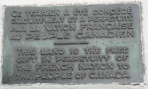 Land dedicated to Canada