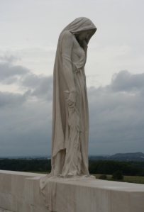 The central figure of Vimy Memorial