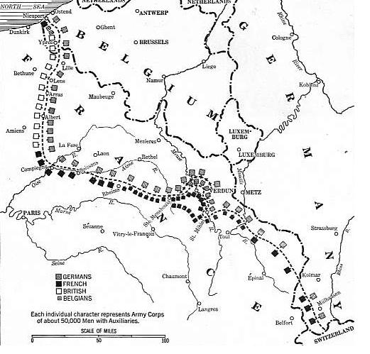 Trench Line September 1916