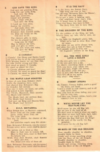 Songs to Nail Hitler - Lyrics