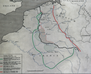 WWI Trench lines in Northern France