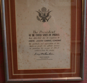 WWII American Govt certificate