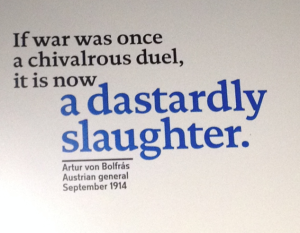 Quote 1 from IWM WWI museum