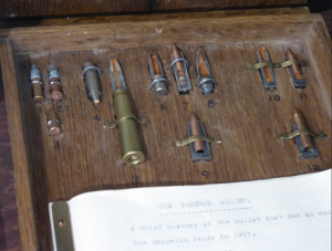 Invented by New Zealander John Pomeroy, these bullets ignited the hydrogen gas in Zeppelin airships