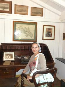 Sophie Schiller researching her next novel