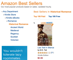Number 1 in historical romance 2015-10-10 at 9.14.41 AM