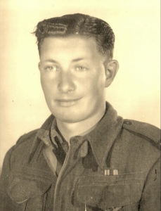 George in uniform - WWII