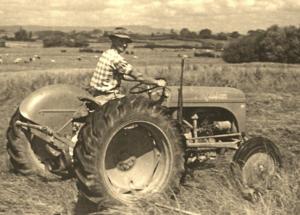 George - farming his land