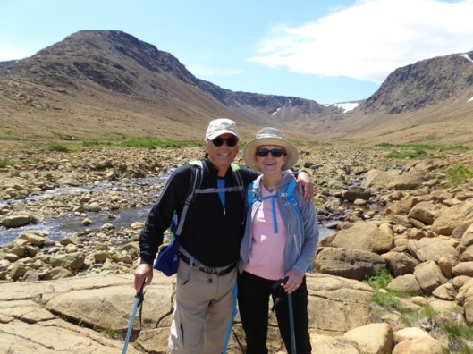 Hubby and I on Tablelands hike Gros Morne Park