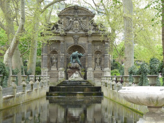 during the siege of Paris, Camille hurries by this fountain