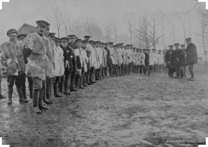 WWI Soldiers wearing goat skin jerkins