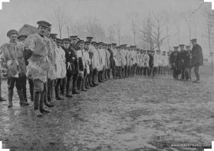 WWI Soldiers wearing goat skin jerkins