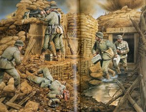 Photo of German trench