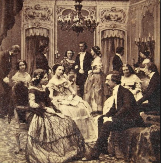 A salon gathering - used in chapter 3