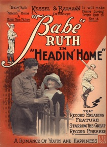 babe ruth in headin' home