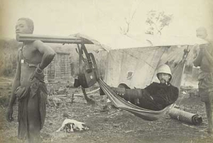 mahala hammock for transport in Africa