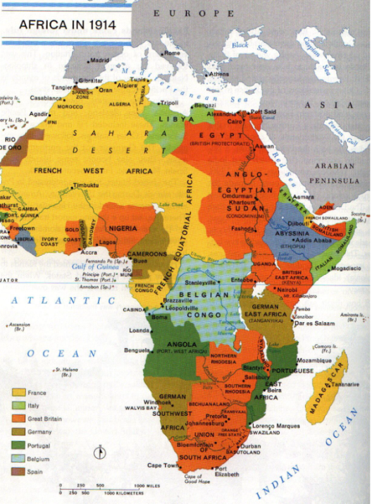 African colonization 1914